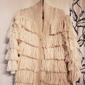 Mara Hoffman fringe long sweater